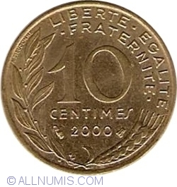 Image #1 of 10 Centimes 2000
