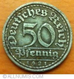 50 Pfennig 1921 F