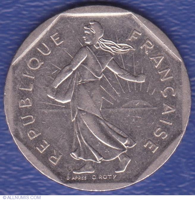 2 francs 1982 fifth republic 1971 1985 france coin 3711. Black Bedroom Furniture Sets. Home Design Ideas