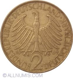 Imaginea #1 a 2 Mărci 1969 J - Max Planck