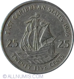 Image #1 of 25 Cents 1986