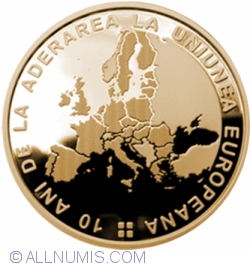 Image #2 of 50 Bani 2017 - 10 years since Romania's accession to the European Union - Commemorative circulation coin