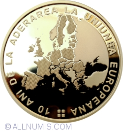 50 Bani 2017 - 10 years since Romania's accession to the European Union - Collector coin