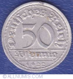 Image #1 of 50 Pfennig 1922 D