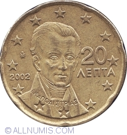 Imaginea #2 a 20 Euro Cent 2002