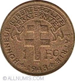 Image #1 of 1 Franc 1943