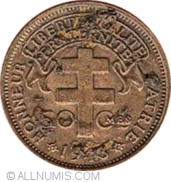 Image #1 of 50 Centimes 1943