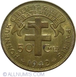 Image #1 of 50 Centimes 1942