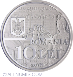 Image #1 of 10 Lei 2016 - 150 years since the establishment of the Romanian Academy - silver coin