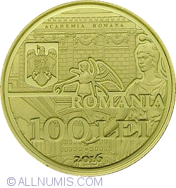Image #1 of 100 lei 2016 - 150 years since the establishment of the Romanian Academy - set of three coins