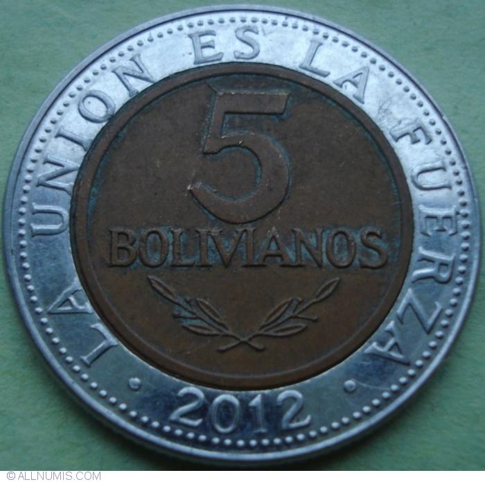 Bolivia UNC SET of 5 COINS 10 20 50 Centavos 1 2  Bolivianos 2012-2017