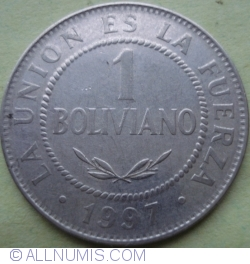 Image #1 of 1 Boliviano 1997