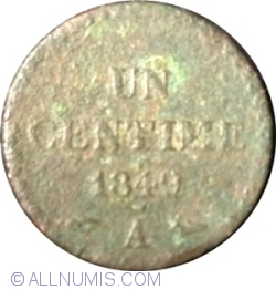 Image #1 of 1 Centime 1849 A