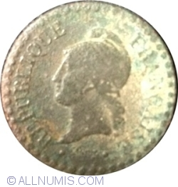 Image #2 of 1 Centime 1849 A