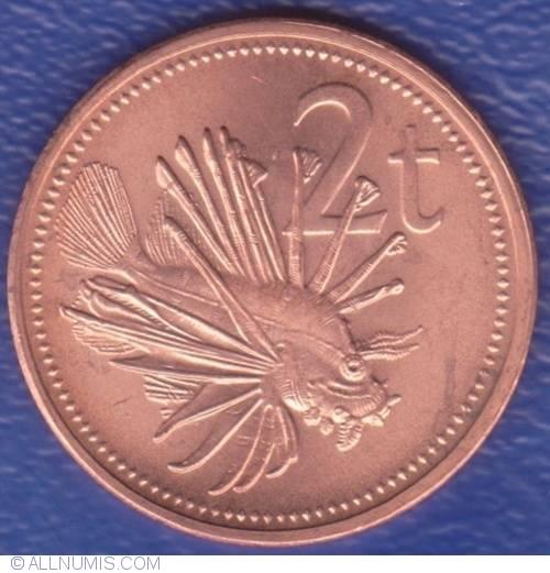 Papua New Guinea 2 Toea 2002 Lion Fish Ornate Butterfly Cod 20pcs coins lot UNC
