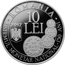 10 Lei 2017 - 150 years since the enactment of the law concerning the establishment of a new monetary system and the minting of national coinsi