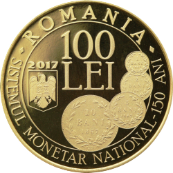 100 Lei 2017 - 150 years since the enactment of the law concerning the establishment of a new monetary system and the minting of national coinsi