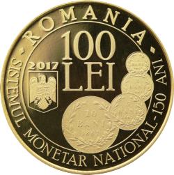 Imaginea #1 a 100 Lei 2017 - 150 de ani de la adoptarea legii pentru înființarea unui nou sistem monetar și pentru fabricarea monedelor naționalei