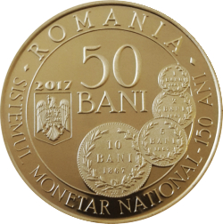 Image #1 of 50 Bani 2017 - 150 years since the enactment of the law concerning the establishment of a new monetary system and the minting of national coinsi