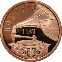 Image #1 of 1 Leu 2013 - 100th anniversary of Maria Tănase's birth - coppered tombac coin