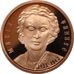 Image #2 of 1 Leu 2013 - 100th anniversary of Maria Tănase's birth - coppered tombac coin