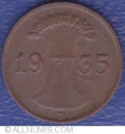 Image #2 of 1 Reichspfennig 1935 D