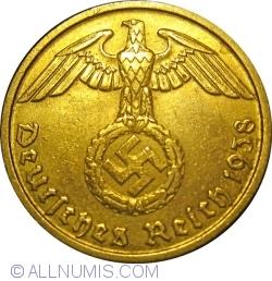 Image #2 of 10 Reichspfennig 1938 D