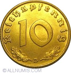 Image #1 of 10 Reichspfennig 1938 D