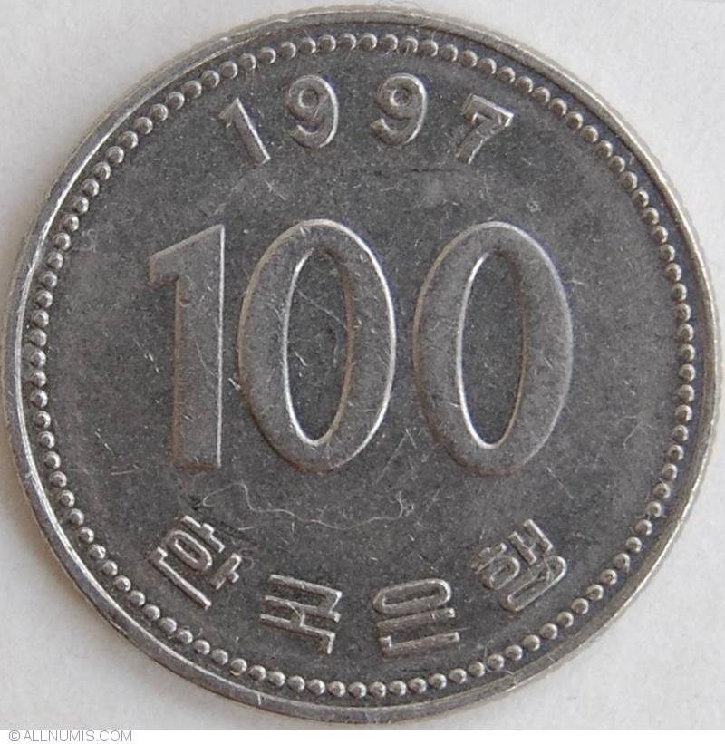 korean 100 won coin
