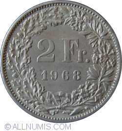 Imaginea #1 a 2 Franci 1968