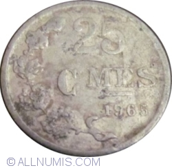 Image #1 of 25 Centimes 1965