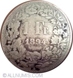 Image #1 of 1 Franc 1894