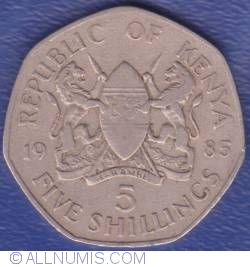 Image #1 of 5 Shillings 1985