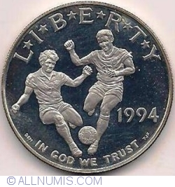 Image #2 of 1 Dollar 1994 D - 1994 World Cup Tournament