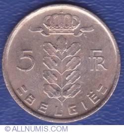 Imaginea #1 a 5 Francs 1971 (België)