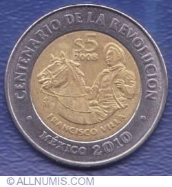 Image #1 of 5 Pesos 2008 - Francisco Villa