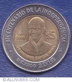 5 Pesos 2008 - Francisco Xavier Mina