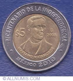 Image #1 of 5 Pesos 2008 - Mariano Matamoros