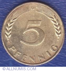 Image #1 of 5 Pfennig 1950 D