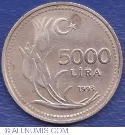 5000 Lira 1993