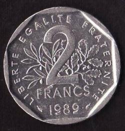 2 Francs 1989