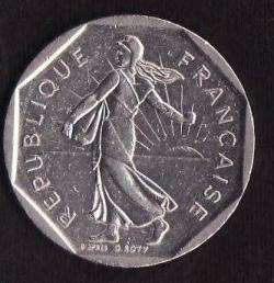 Image #2 of 2 Francs 1989