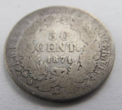 Image #1 of 50 Centimes 1871 K