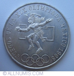 Imaginea #2 a 25 Pesos 1968 - Olimpiada de vara din Mexico City