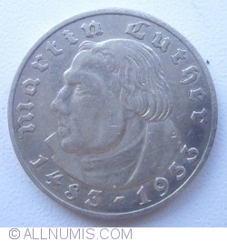 Image #2 of 2 Reichsmark 1933 A