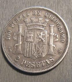 Image #1 of 2 Pesetas 1869 SN-M