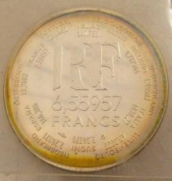 Image #1 of 6,55957 Francs (1 Euro) 2000