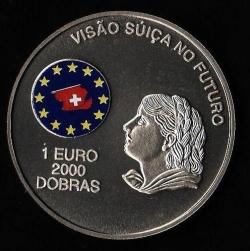 Image #1 of 2000 Dobras - 1 Euro 1997