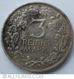 Image #1 of 3 Reichsmark 1925 J