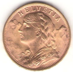Image #2 of 20 Francs 1949
